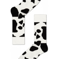 Fun socks at Happy Socks for happy people! Black/white Cow print