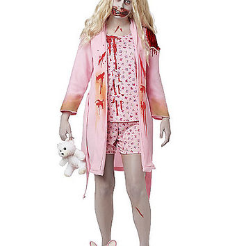 Walking Dead Bunny Slipper Girl Adult Womens Costume - Spirithalloween.com