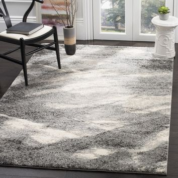 Safavieh Retro Mid-Century Modern Abstract Grey/ Ivory Rug (5' x 8') | Overstock.com Shopping - The Best Deals on 5x8 - 6x9 Rugs