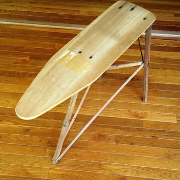 Antique Ironing Board Child Size Wooden Vintage Children's Ironing Board 1950's Mid Century Toy Ironing Board