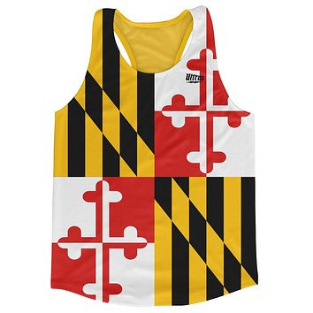 Maryland State Flag Running Tank Top Racerback Track and Cross Country Singlet Jersey