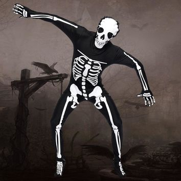New Arrival Halloween Adult Man Cosplay Clothing Creative Skull Skeleton Jumpsuit Cosplay Halloween Costume Masquerade Party Cos