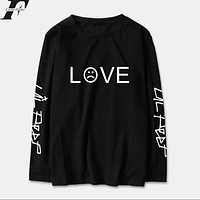 LUCKYFRIDAYF 2018 Lil Peep R.I.P. Long Sleeve T Shirt Men/Women Cotton Spring Fashion Casual Streetwear Hip Hop Long T-shirt Top