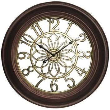 "Westclox 22.75"" Wall Clock With Antique Bronze & Gold Finish (pack of 1 Ea)"