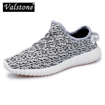 Valstone Super Men's Mesh air sneakers lovers' Breathable casual shoes lady's Spring outdoor walking shoes flats  light lace-up