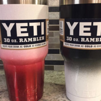 Two-toned, Faded, Ombre, Powder Coated Yeti Rambler, 20oz and 30oz