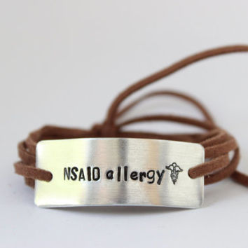 allergy alert bracelet, medical alert, diabeties bracelet, allergy info, allergy bracelet, allergy alert, medical alert id, diabetic jewelry