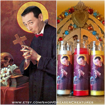 Saint Pee Wee Prayer Candle. Retro, Kitschy, Cute