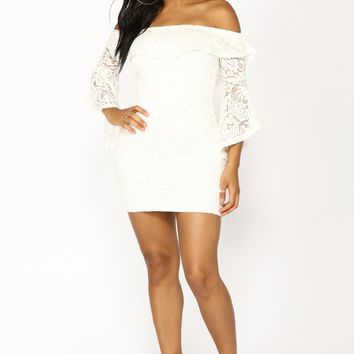 Andreya Lace Dress - Off White