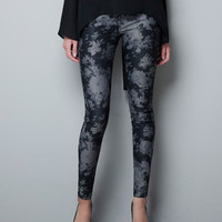 FLORAL PRINT TROUSERS - Trousers - Woman - ZARA United States