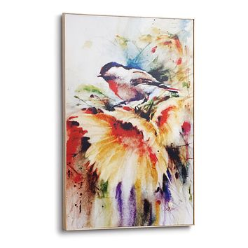 Sunny Days Chickadee Large Wall Art