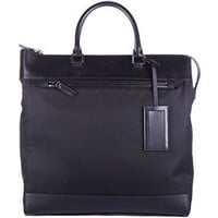 Prada men's bag handbag tote shopping soft black
