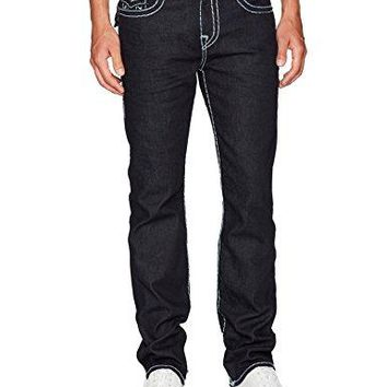 True Religion Men's Ricky Super T Straight Leg Jeans, Inglorious, 34