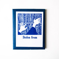 Archival Bookplates 'Stolen From'