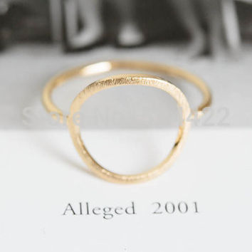 Gold Classic Open Round Rings for Women Zinc Alloy Geometric Circle Women Party Rings Wedding Bands Gifts