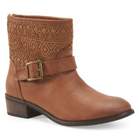 Aeropostale  Womens Crochet Buckle Boots - Brown,