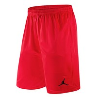 NIKE Jordan Summer New Fashion Embroidery People Sports Leisure Shorts Men Red