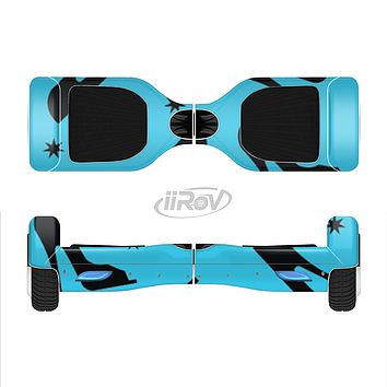 The Blue & Black High-Heel Pattern V12 Full-Body Skin Set for the Smart Drifting SuperCharged iiRov HoverBoard