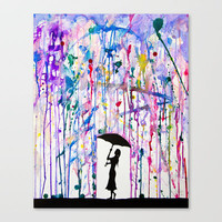 Deluge Stretched Canvas by Marc Allante