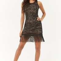 Crochet Fringe Sheath Dress