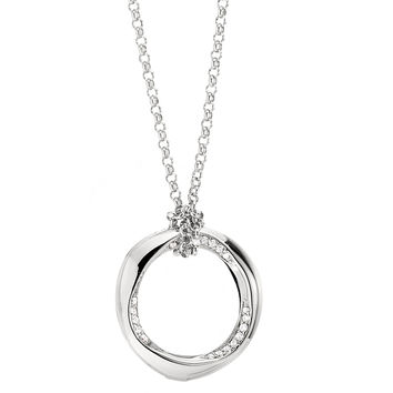 Pendant from the RAY OF LIGHT Collection, 26 in. Timeless Sterling Silver and CZ