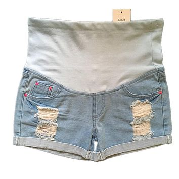 2017 new casual summer maternity Jeans pregnancy denim Shorts Belly jeans Capris pants for pregnant women pregnant jeans P164