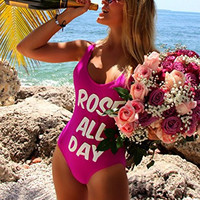 SAY-IT Brand Rose All Day Fuchsia Swimsuit