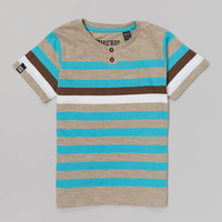 Turquoise & Gray Stripe Henley Tee - Toddler & Boys | something special every day