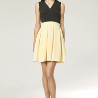 Simply Summer Black And Yellow Day Dress