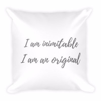 On Broadway - I am Inimitable I am an Original Throw Pillow