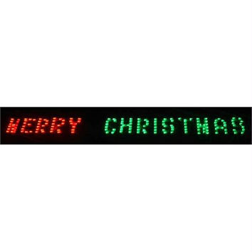 Merry Christmas Banner - Color: Red And Green Bulbs