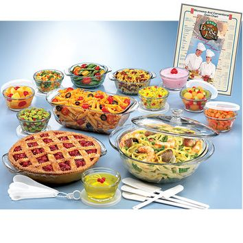 Anchor Hocking-33-piece Glass Ovenware Set