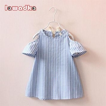 Summer Girl Dress Striped Kids Dresses For Girls Party Princess Children Vestidos Birthday Party Gown