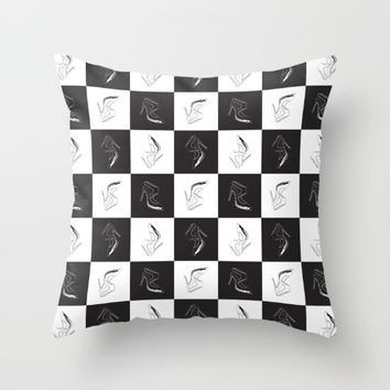 chessboard pattern (high heels) Throw Pillow by Berwies