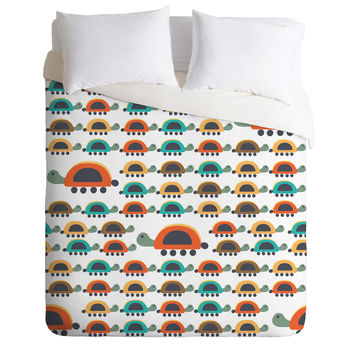 Gabriela Larios Colorful Turtles Duvet Cover
