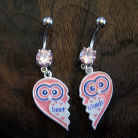 Best Friends Owl Belly Button Rings
