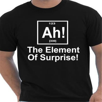 Summer Letter Printed Element Of Surprise Periodic Table Nerd Geek Science Women Men T Shirt Street Wear Casual Tee Top