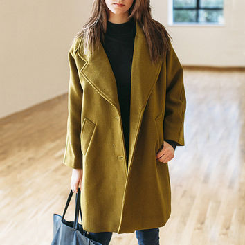 Camel Longline Boyfriend Blazer Coat by Little By Little