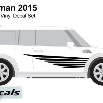 Mini Countryman 2015 Winged Lines Graphics Vinyl Decal Set