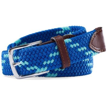Braided Web Belt in Royal Blue by Southern Tide