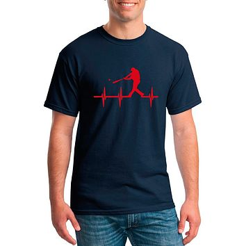 Baseball Heartbeat Sports Shirt | Our T Shirt Shack