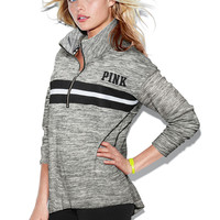 High Neck Half-Zip - PINK - Victoria's Secret