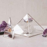 ABJ Glassworks Vega Pyramid Box- Silver One