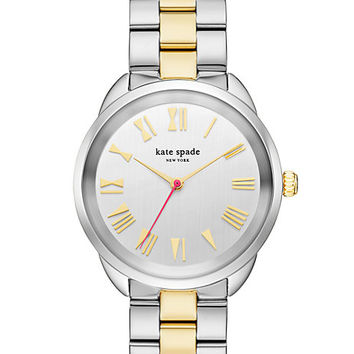 two-tone gold crosstown watch
