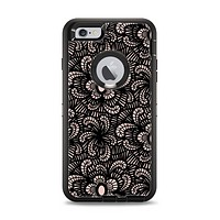 The Black Floral Lace Apple iPhone 6 Plus Otterbox Defender Case Skin Set