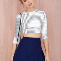 Nasty Gal Pleatest Taboo Crepe Skirt