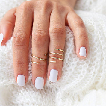 2 Gold Knuckle Rings, Gold Ring Set, Midi Ring, Gold Stacking Rings, Gold Ring, Knuckle Ring, Midi Ring, Simple Rings, Dainty Ring