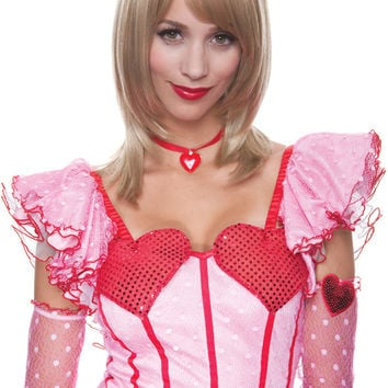 costume accessory: jasmine wig blonde french kiss