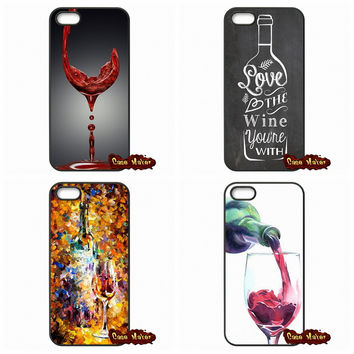 Fashion Cool Wine Art Phone Case Cover For iPhone SE 4 4S 5S 5 5C 6 6S Plus Samsung Galaxy S2 S3 S4 S5 MINI S6 S7 Edge Note 4 5