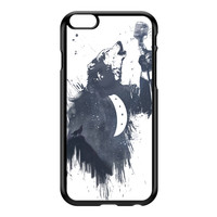 Wolf Song 3 Black Hard Plastic Case for iPhone 6 Plus by Balazs Solti
